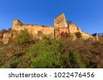 medieval fortified saxon... | Shutterstock . vector #1022476456