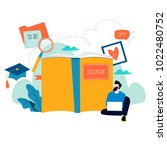 education  online training... | Shutterstock .eps vector #1022480752