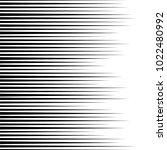 horizontal speed lines for... | Shutterstock .eps vector #1022480992