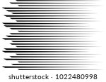 horizontal speed lines for... | Shutterstock .eps vector #1022480998
