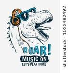 tyrannosaurus rex with... | Shutterstock .eps vector #1022482492