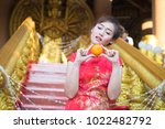 chinese woman wearing... | Shutterstock . vector #1022482792