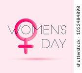 march 8. women's day blended... | Shutterstock .eps vector #1022484898