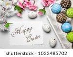 happy easter card  | Shutterstock . vector #1022485702