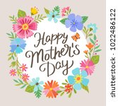 cute mother's day greeting card.... | Shutterstock .eps vector #1022486122