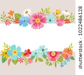 spring background with cute... | Shutterstock .eps vector #1022486128
