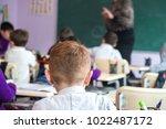 school children are... | Shutterstock . vector #1022487172