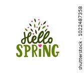 hand drawn lettering hello...   Shutterstock .eps vector #1022487358
