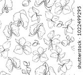seamless floral pattern with... | Shutterstock .eps vector #1022499295