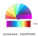 illustration roller brush ... | Shutterstock .eps vector #1022499448