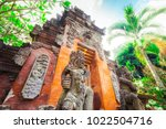 majestic and tall rock statues... | Shutterstock . vector #1022504716