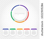 modern infographics with five... | Shutterstock .eps vector #1022505286