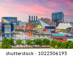 baltimore  maryland  usa... | Shutterstock . vector #1022506195