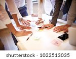 creative business team working... | Shutterstock . vector #1022513035