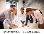 creative business team working... | Shutterstock . vector #1022513038