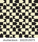 seamless squares and arrows... | Shutterstock .eps vector #1022515075