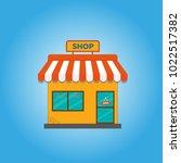 storefront vector illustration... | Shutterstock .eps vector #1022517382