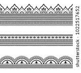 set of seamless borders for... | Shutterstock .eps vector #1022517652