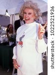 Small photo of Los Angeles, California - exact date unknown - circa 1990: Late comedienne Phyllis Diller arriving at a celebrity fundraising event