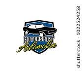 creative automotive logo design | Shutterstock .eps vector #1022524258