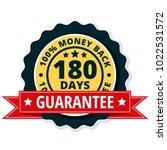 180 days money back illustration   Shutterstock .eps vector #1022531572