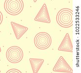 repeated circles and triangles... | Shutterstock .eps vector #1022533246