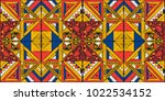 tribal vector ornament.... | Shutterstock .eps vector #1022534152