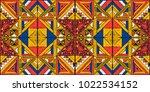 tribal vector ornament.... | Shutterstock .eps vector #1022534152