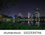 the photo of lumpini park ... | Shutterstock . vector #1022534746
