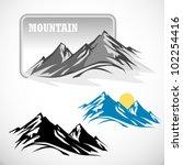 Stock vector abstract high mountain icon set 102254416