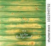 wood plank green background | Shutterstock .eps vector #1022545732
