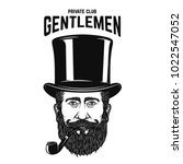 private gentlemen club.... | Shutterstock .eps vector #1022547052