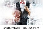 confident and young businessman ... | Shutterstock . vector #1022551975