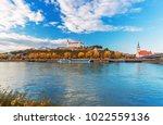 bratislava castle  parliament...   Shutterstock . vector #1022559136