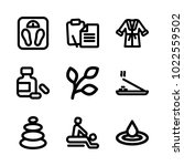 icons wellness and spa. vector... | Shutterstock .eps vector #1022559502
