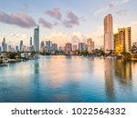 surfers paradise skyline at... | Shutterstock . vector #1022564332