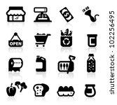 supermarket icons set  elegant...   Shutterstock .eps vector #102256495