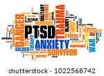 ptsd   post traumatic stress... | Shutterstock . vector #1022568742