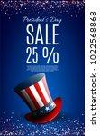 presidents' day sale banner...   Shutterstock .eps vector #1022568868