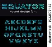 monogram logo font vector... | Shutterstock .eps vector #1022579482