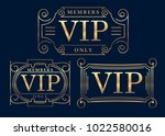 gold rich decorated vip design... | Shutterstock .eps vector #1022580016