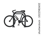 bicycle lock park simple vector ...