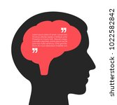 human brain and thought bubble... | Shutterstock .eps vector #1022582842