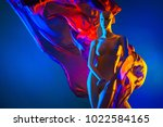 neon woman. neon tissue. woman... | Shutterstock . vector #1022584165