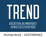 vector sans serif condensed...   Shutterstock .eps vector #1022584462