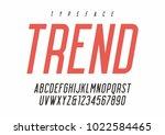 vector sans serif condensed... | Shutterstock .eps vector #1022584465