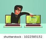 computer hacker character... | Shutterstock .eps vector #1022585152