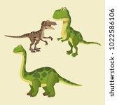 dinosaurs elements cartoon | Shutterstock .eps vector #1022586106