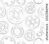seamless pattern with black... | Shutterstock .eps vector #1022586946