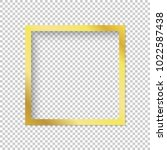 Modern Gold Vector Empty Frame...